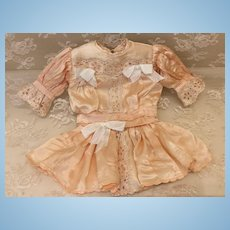 Seamstress made Peach Dress for Cabinet Sz Doll