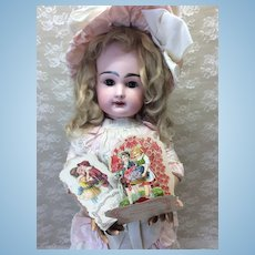 Two Early Valentine Cards For Doll Display