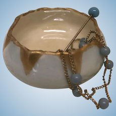 "1-1/2"" Antique French Jewelry Dish for French Fashion or Bebe"