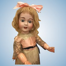 """Charming 27"""" French Bisque Limoges Bebe Exquisitely Dressed"""