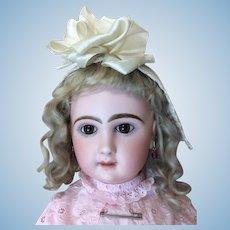 Beautiful Antique French Doll Bonnet Mid Sz Doll