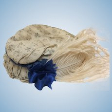 Beautiful Antique Hat for Cabinet Size Doll
