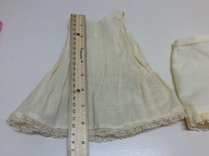 1bb19a9df71 Vintage Muslin Slip and Pantaloons French or German Bisque Doll ...