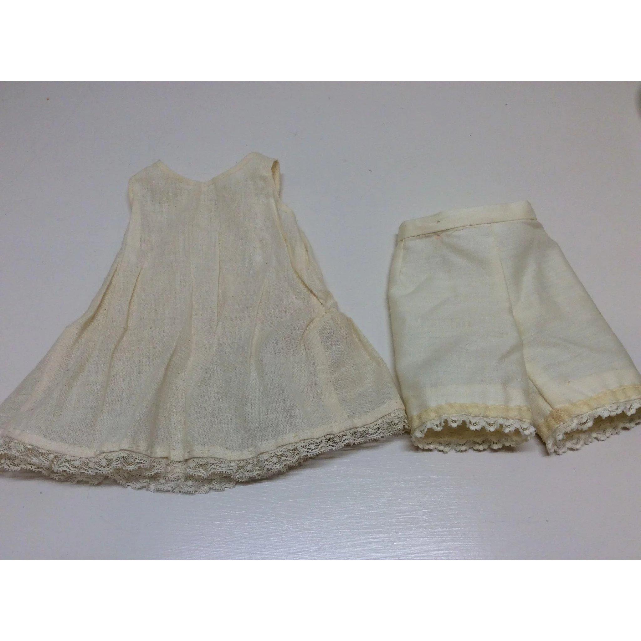 f3ababfc706 Vintage Muslin Slip and Pantaloons French or German Bisque Doll   Sweet Doll  Of Mine