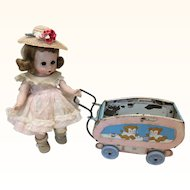 Small Tin Ohio Arts Doll Carriage TLC
