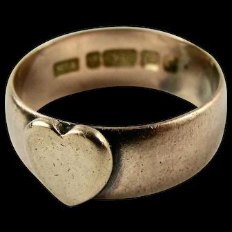 Vintage 9k Solid Rose Gold Keepsake HEART Ring 1939 Hallmark - US Size 6.5