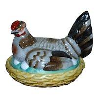 19th Century Victorian Staffordshire Hen on Nest Tureen