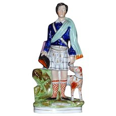 Mid-19th Century Victorian Staffordshire Model of The Young Prince of Wales at Balmoral