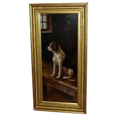 19th Century Portrait of a Hound, after Landseer