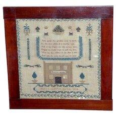 William IV Square Silkwork Sampler Dated 1834