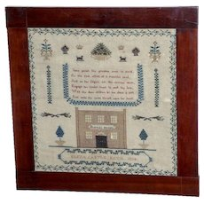 William IV Square Silkwork Sampler Dated 1834