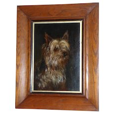 Portrait of a Yorkshire Terrier Dog by Arthur Trevor Haddon