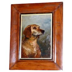 Portrait of a Hound Dog by Arthur Trevor Haddon
