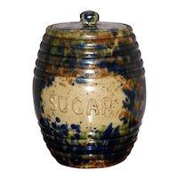 "Victorian 19th Century Scottish Pottery ""Sugar"" Storage Jar"