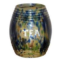 """Victorian 19th Century Scottish """"Tea"""" Storage Jar"""