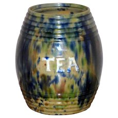"Victorian 19th Century Scottish ""Tea"" Storage Jar"