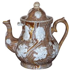 Large and Early 19th Century Georgian Agateware Teapot