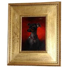 Victorian 19th Century Portrait of a Toy Dog