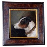 Portrait of a Jack Russel Terrier Dog, by E. Aistrup