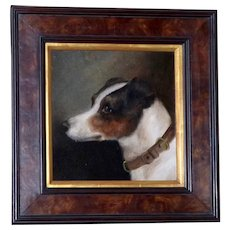 Portrait of a Jack Russel Terrier Dog, by E. Aistrup