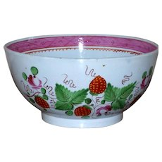 Early 19th Hand-Painted Staffordshire Creamware Bowl