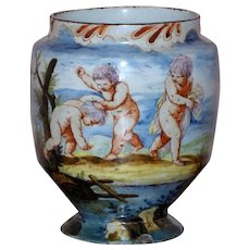 Late 18th/Early 19th Century Polychrome Italian Majolica Vase