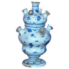 18th Century Italian Savona Pottery Flower Vase