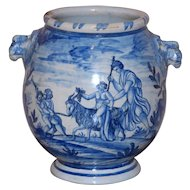 Large and Impressive Early 20th Century Itallian Blue and White Vase