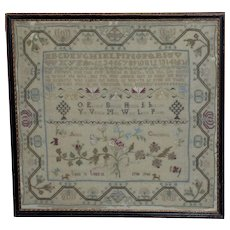 18th Century George III Silkwork Sampler Dated 1780