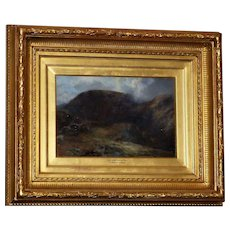 "Scottish Highland Landscape, ""Glen Lyon,"" by John Smart, RSA, RSW, RBA, in Fine Original Ornate Frame"