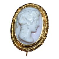 Victorian 19th Century Cameo Stick Pin