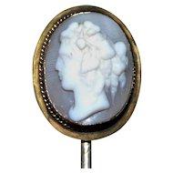 Victorian 19th Century Classic Cameo Stick Pin