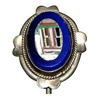 19th Century Italian Micro Mosaic Stickpin