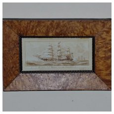 """Mid-19th Century Sepia Drawing of the Clipper Ship, """"Renown"""""""