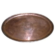 Edwardian Oval Copper Tray by Hugh Wallis