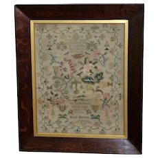 Early 19th Century Silkwork Sampler