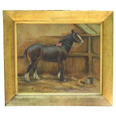 Chestnut Horse in a Stall, by May Burton