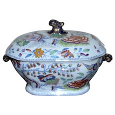 "19th Century Mason's Ironstone ""Flying Bird"" Tureen"