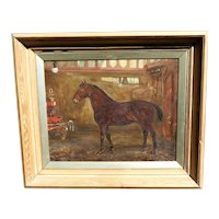"""Portrait of """"Frizzle,"""" the Pet Horse of the Birmingham Fire Brigade, by W. Wasdell Trickett"""