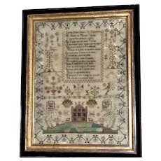 Georgian Early 19th Century Silkwork Sampler, Dated 1816