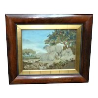 Early 19th Century Woolwork of Sheep in a Landscape