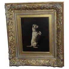 Portrait of a Begging Terrier by Arthur Batt