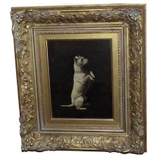 Portrait of a Begging Terrier Dog by Arthur Batt