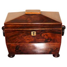 Regency Rosewood Tea Caddy c1830