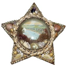 Star-Shaped Edwardian Shell-Work Souvenir Diorama