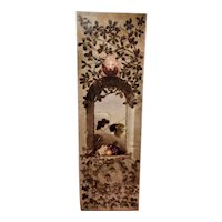 Large and Impressive Victorian Mid-19th Century Oil Painting of Fruit in a Vine-Covered Archway