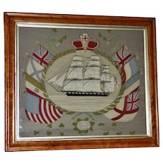 Victorian 19th Century Rigged Ship Woolie