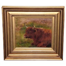 Portrait of a Highland Cow by Louis B. Hurt