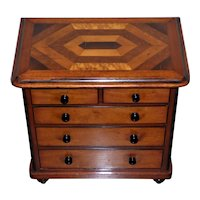 Late 19th Century Miniature Chest with Inlaid Top