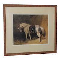 """""""A Piebald Pony in a Stable,"""" Attrib. to Frederick Tayler, RWS"""